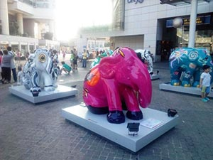 Elephant Parade in Hong Kong